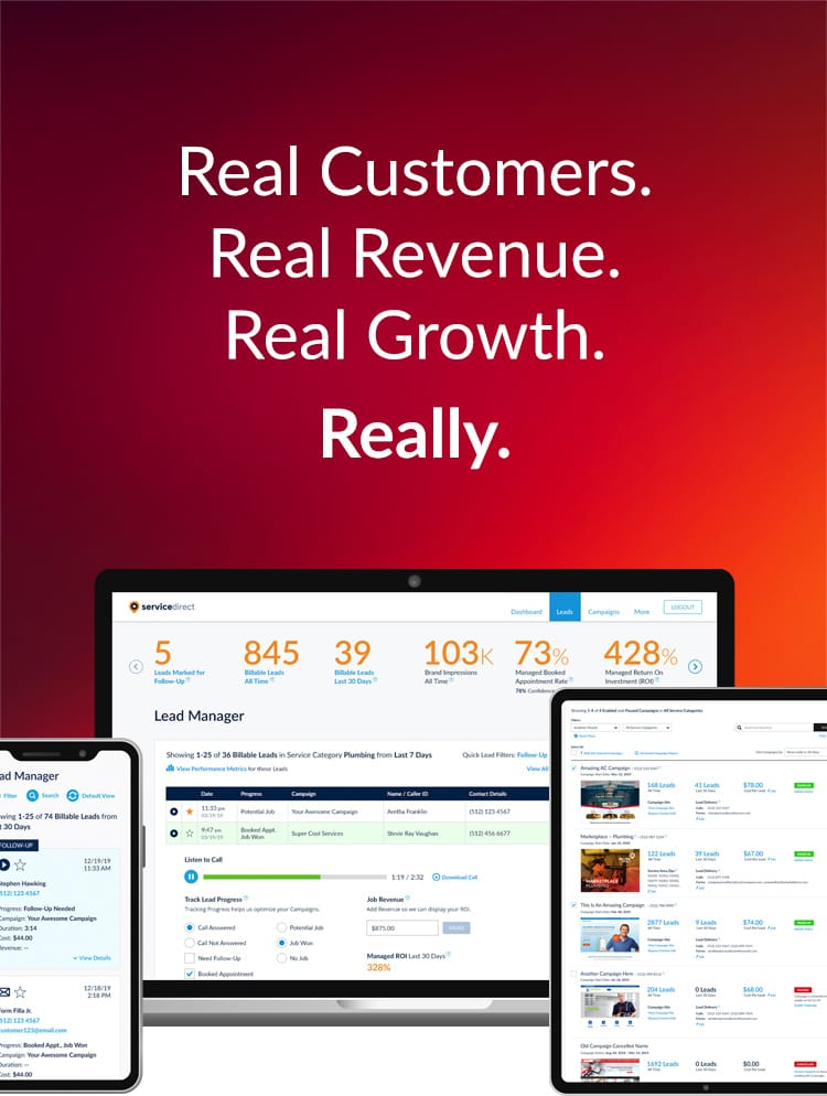 Real Customers. Real Revenue. Real Growth. Really.