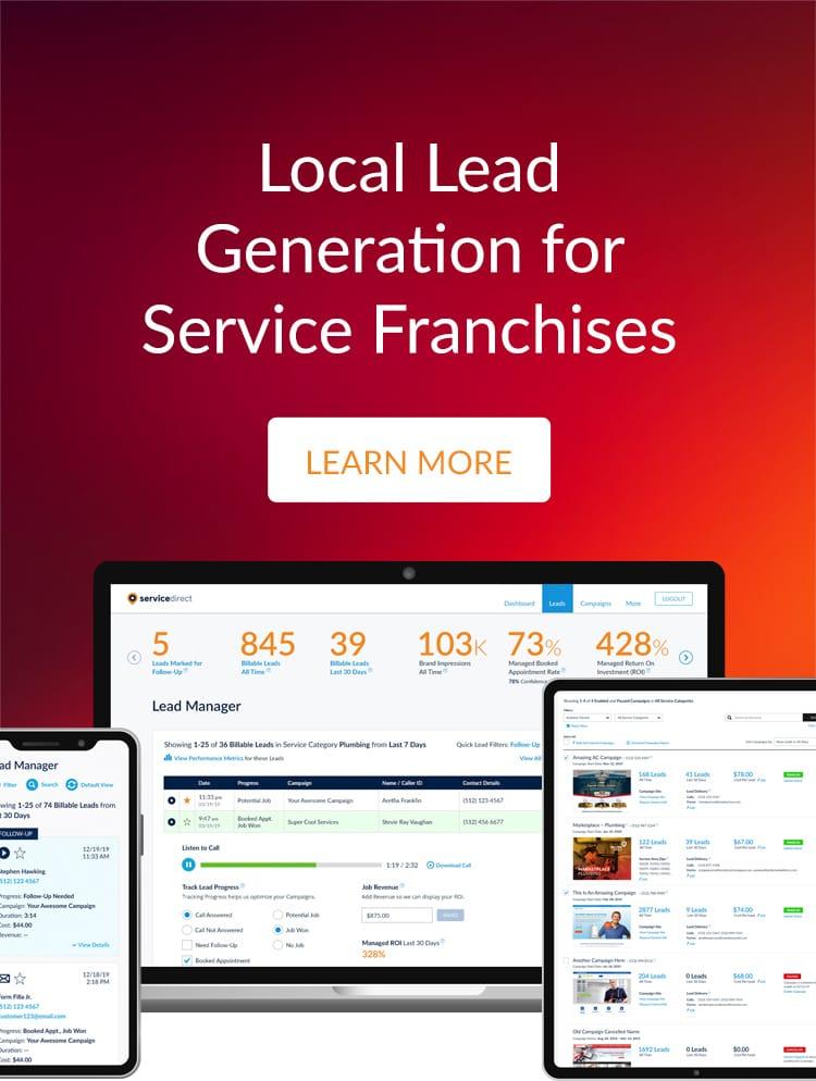 Franchises online lead generation main image