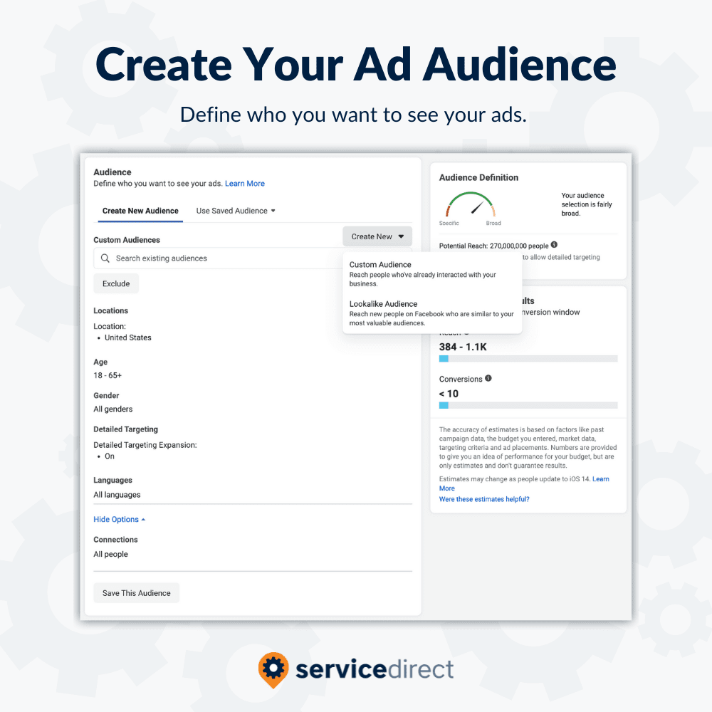 Facebook Ad Audiences for Contractors