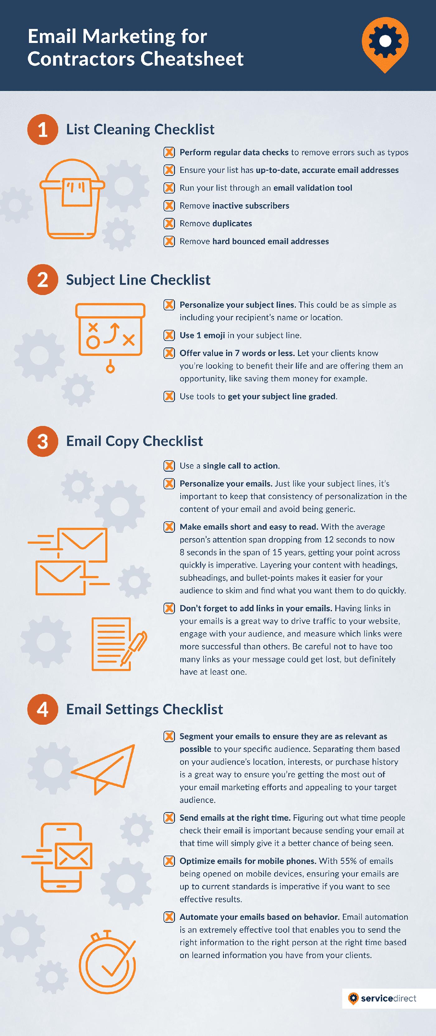 Email Marketing For Contractors Cheatsheet